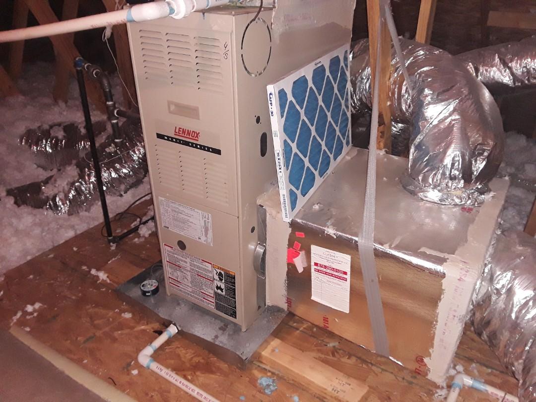 Powder Springs, GA - Performed Heat Maintenance on 2 Lennox Furnaces. Acworth
