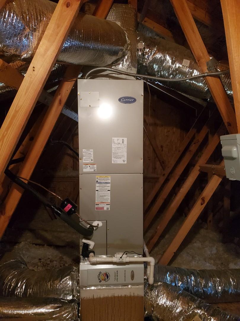 Atlanta, GA - Installed new Carrier heat pump system