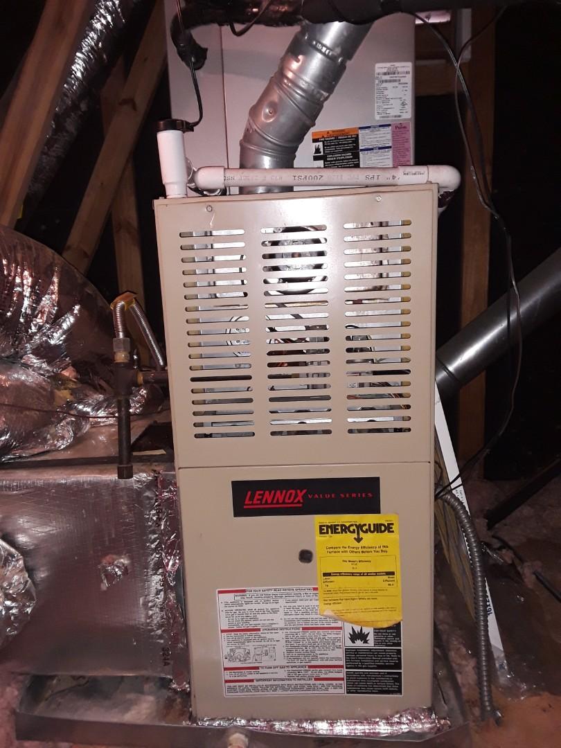 Powder Springs, GA - Performed Heat Maintenance on a Carrier furnace and a Lennox Furnace.  Marietta