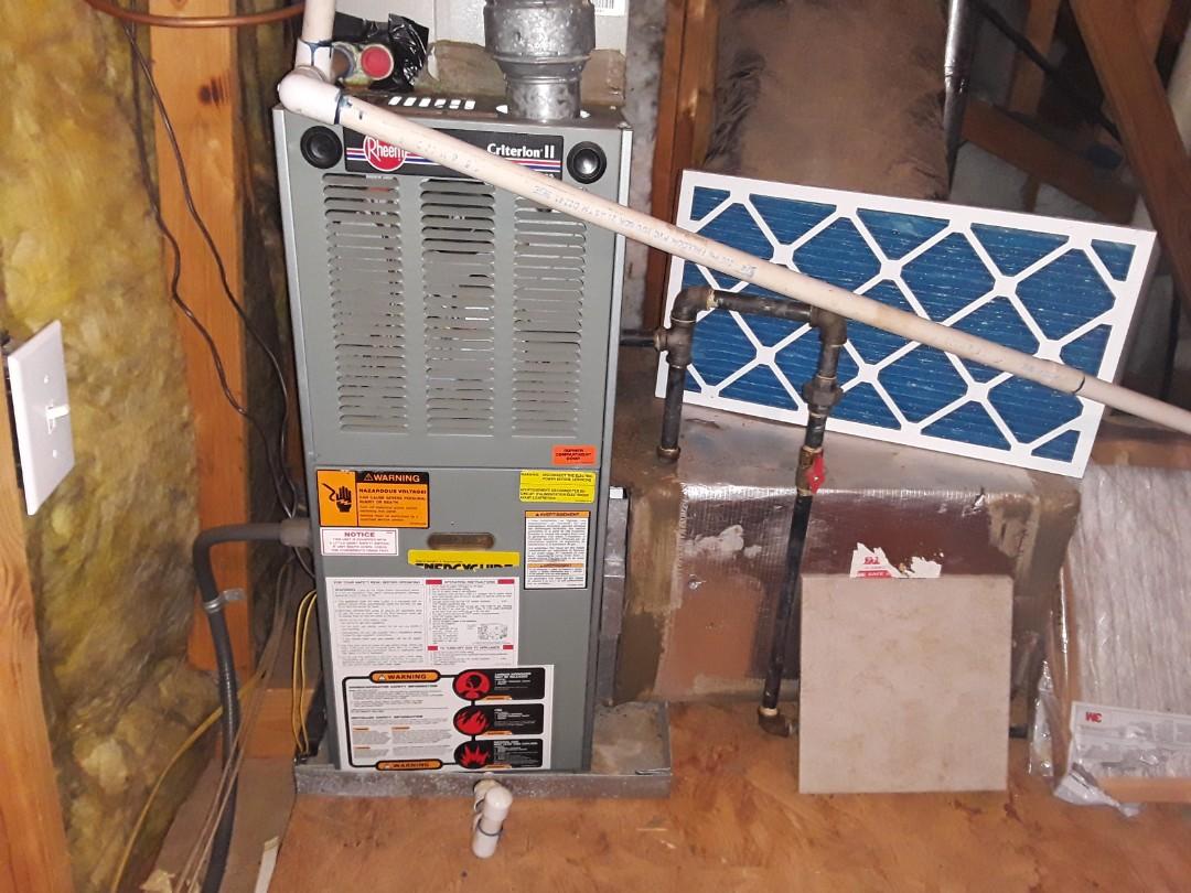 Acworth, GA - Performed Heat Maintenance on a Rheem furnace   Acworth