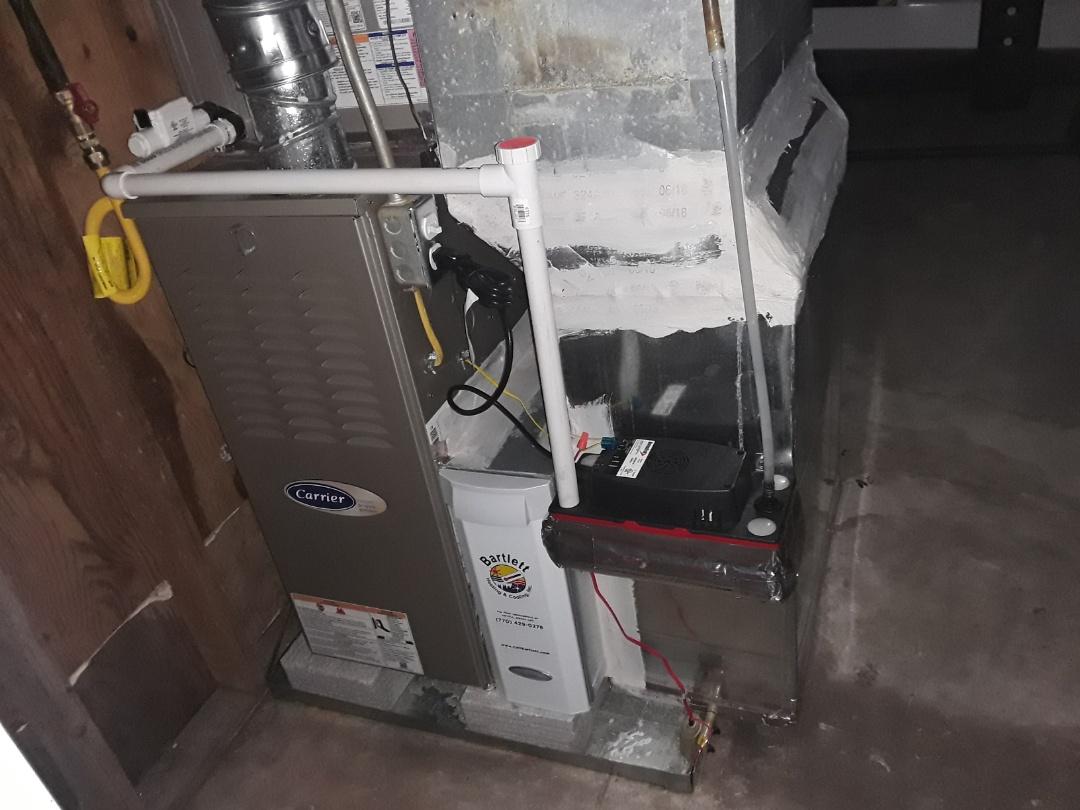 Kennesaw, GA - Performed Heat Maintenance on a Carrier Heat Pump. Kennesaw