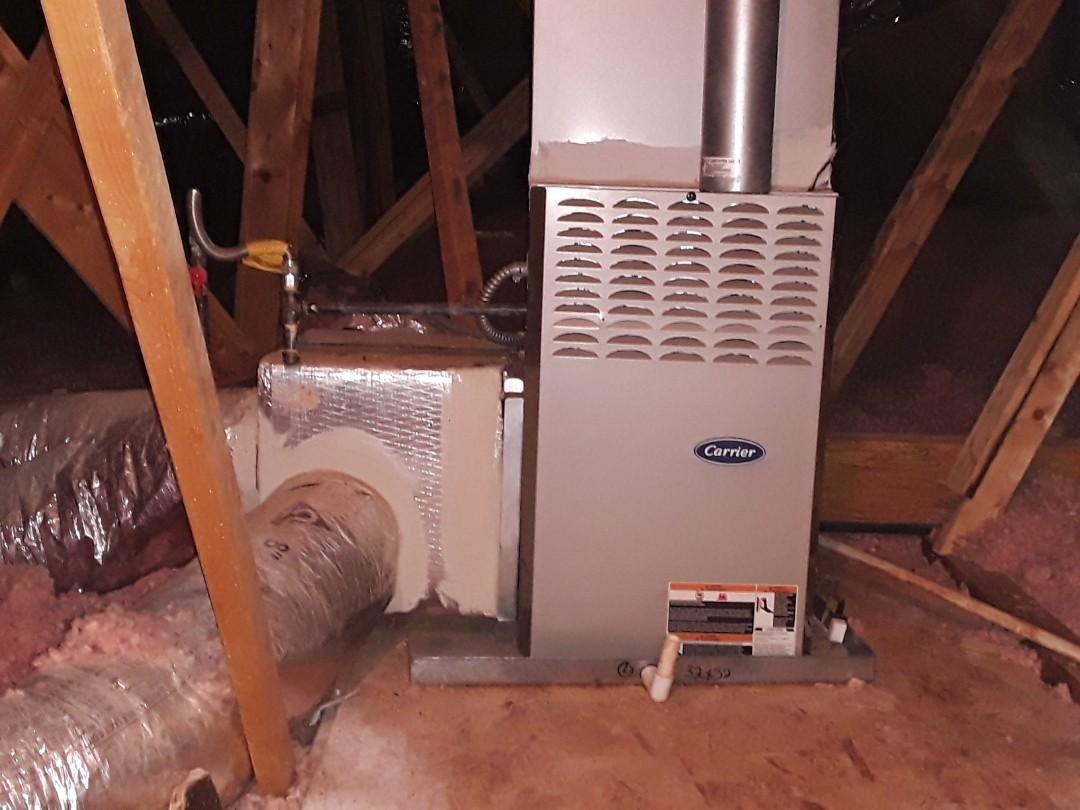 Powder Springs, GA - Performed Heat Maintenance on a Carrier furnace.  Powder Springs