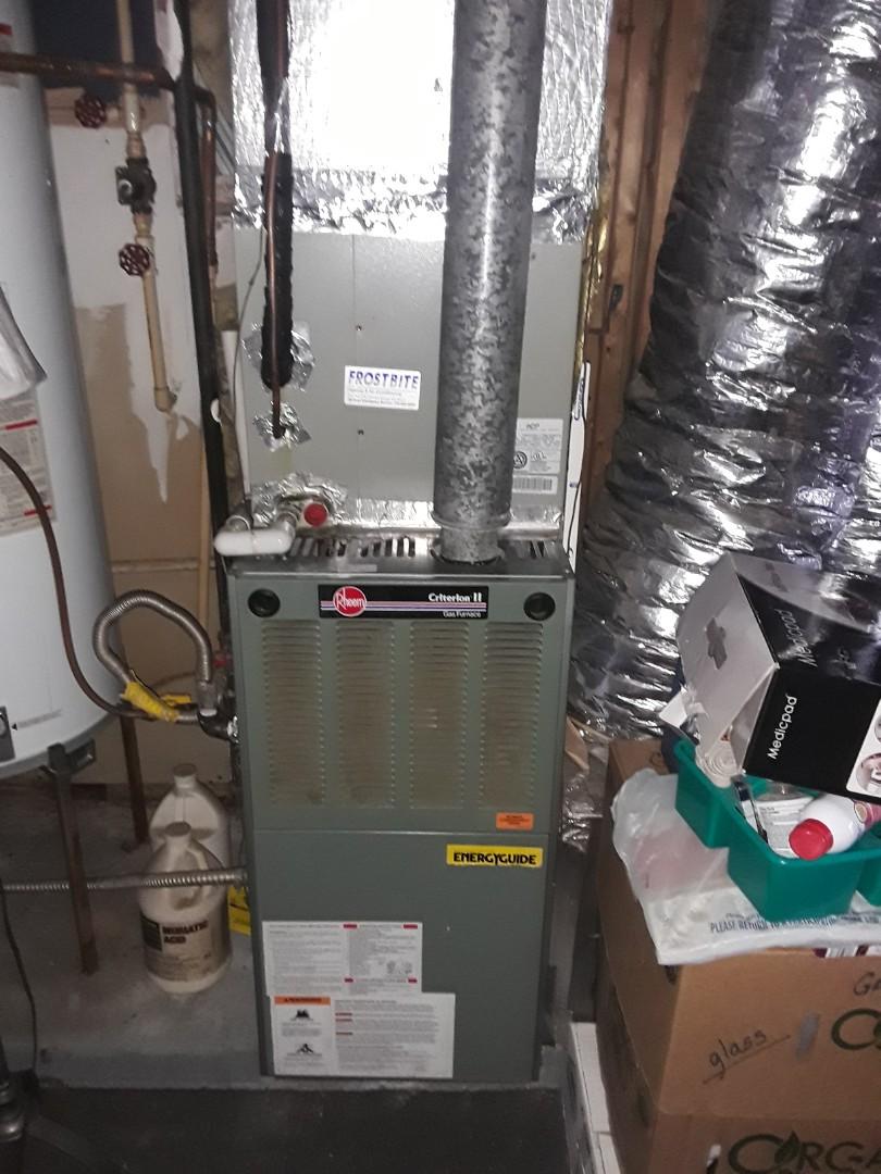 Powder Springs, GA - Performed Heat Maintenance on a Rheem. Powder Springs