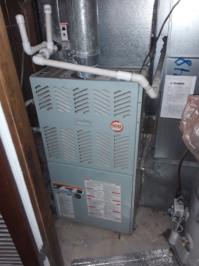 Kennesaw, GA - Performed Heat Maintenance on a Payne Furnace. Kennesaw