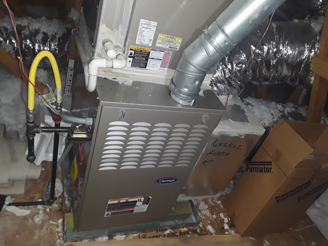 Powder Springs, GA - Performed Heat Maintenance on a Carrier furnace.  Powder Springs
