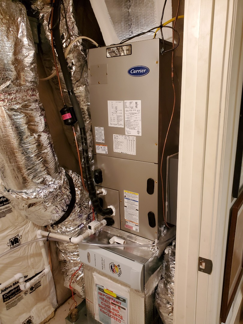 Atlanta, GA - Installed new Carrier Infinity Air handler and heat pump with Infinity my touch WIFI Thermostat