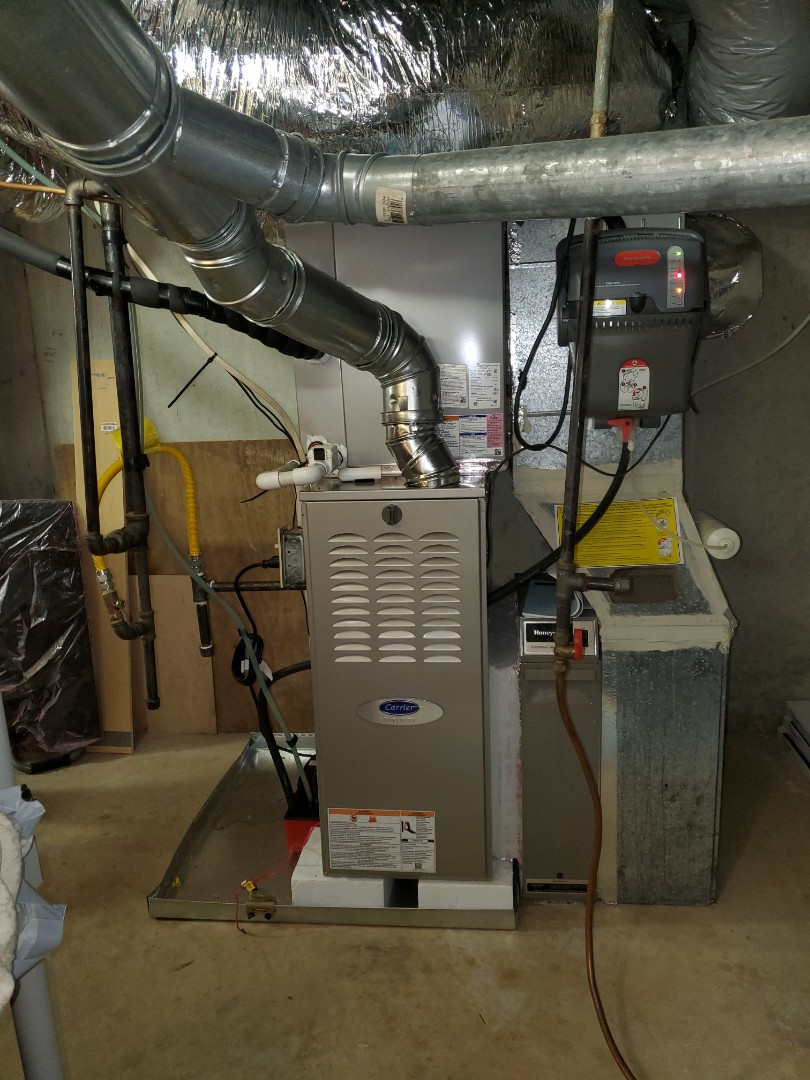 Smyrna, GA - Installed new Carrier Infinity 2 stage variable speed gas furnace with 16 seer condensor and Ecobee WIFI Thermostat
