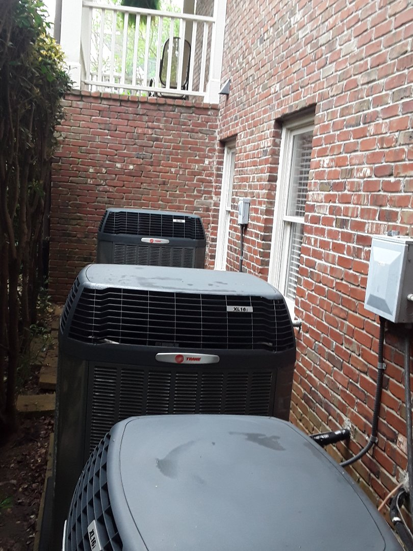 Powder Springs, GA - Performed AC Maintenance on 3 Trane Condensing Units.  Powder Springs.