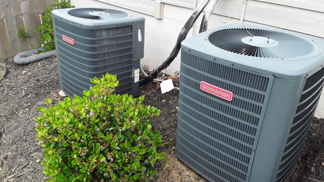 Powder Springs, GA - Performed AC Maintenance on 2 Goodman Condensing Units. Powder Springs