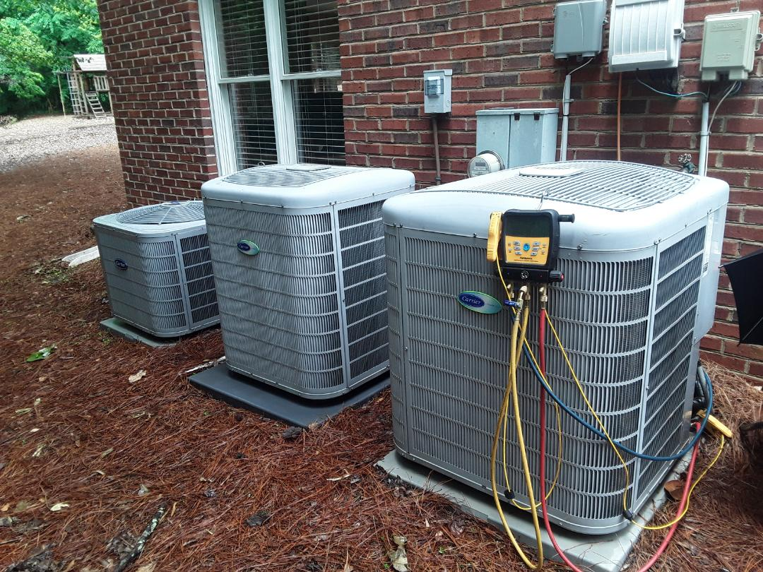 Marietta, GA - Performed AC Maintenance on 3 Carrier Condensing Units. Marietta