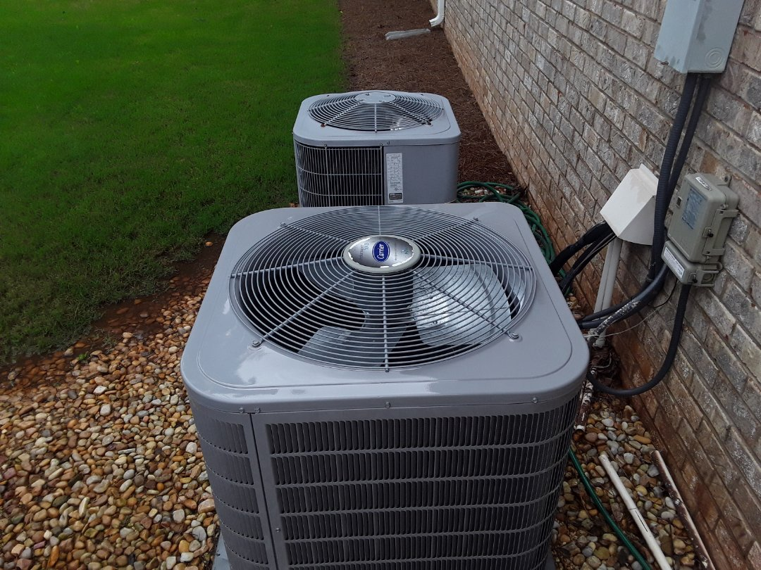 Powder Springs, GA - Performed AC Maintenance on 2 Carrier Condensing units. Powder Springs
