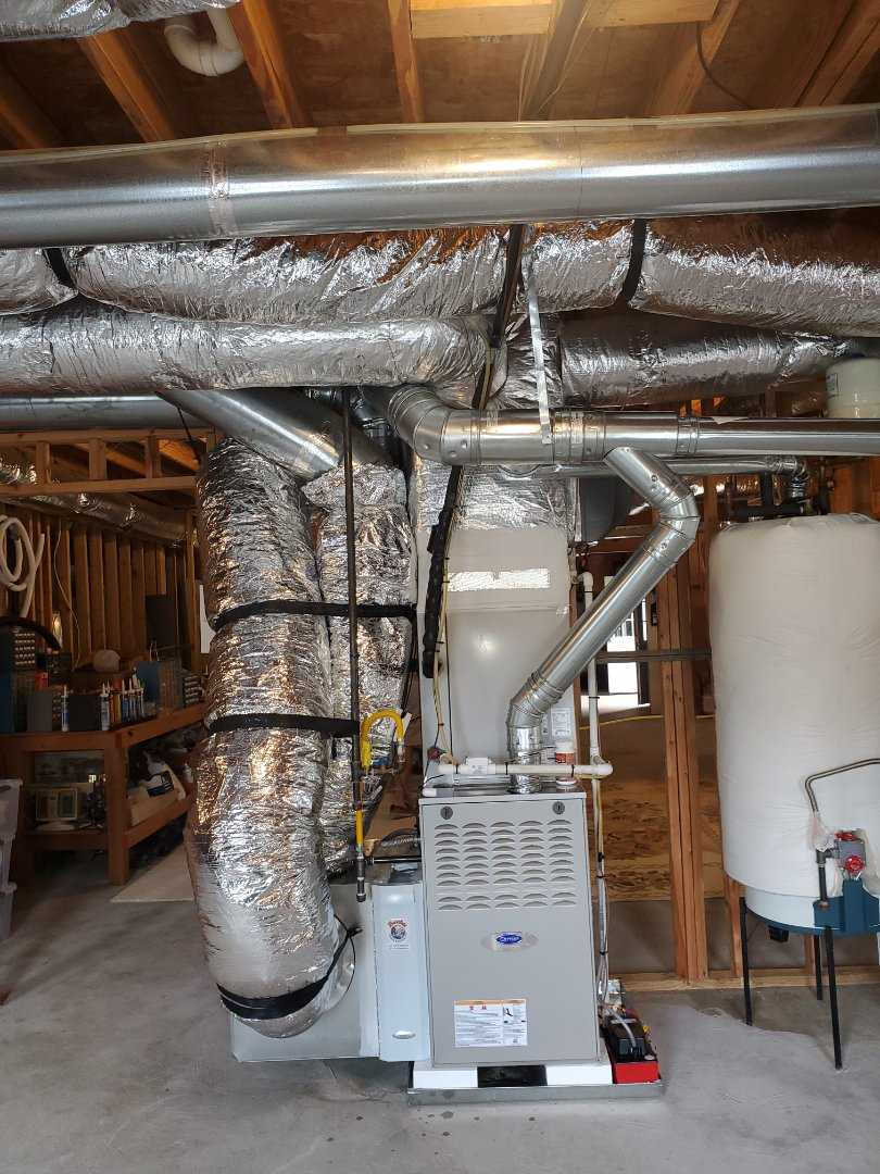 Marietta, GA - Installed 2 new Carrier Infinity 5 stage condensers with Carrier Infinity 2 stage variable speed gas furnace and Infinity Mytouch WIFI Thermostat and Carrier fan powered Humidifier and Aprilaire media filter