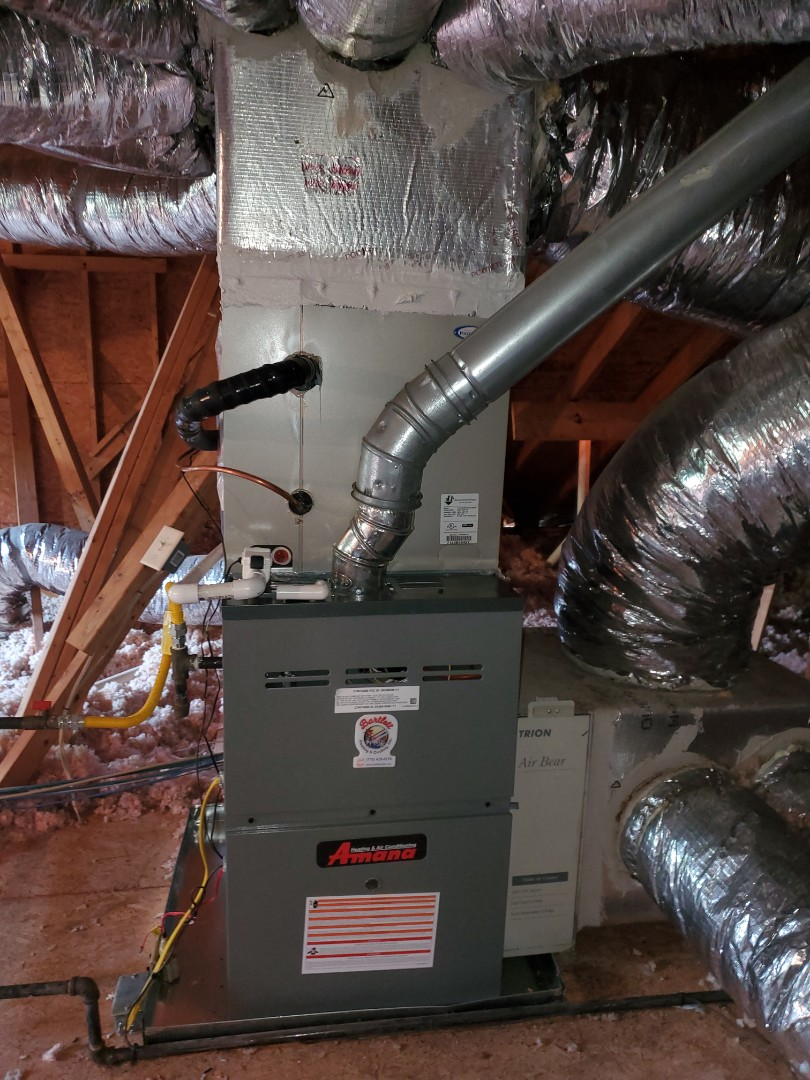 Atlanta, GA - Installed new Amana 16 seer condenser and Amana 2 stage variable speed gas furnace