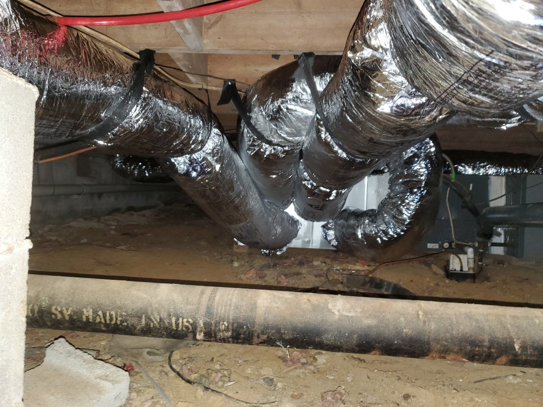Kennesaw, GA - Installed new duct system and Aprilaire Dehumidifier