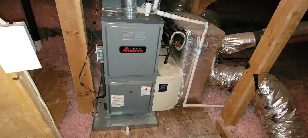 Acworth, GA - Performed Heat Maintenance on 2 Amana  Furnace and Heat Pump. Acworth