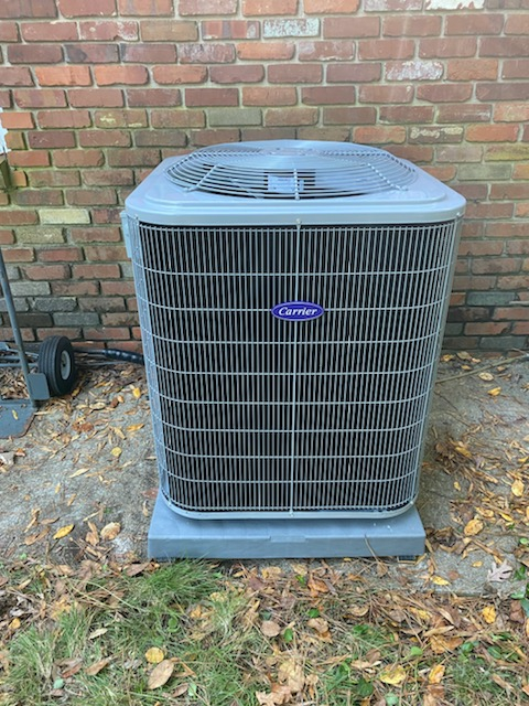 Atlanta, GA - Installed new Carrier 14 seer condenser with Carrier gas furnace