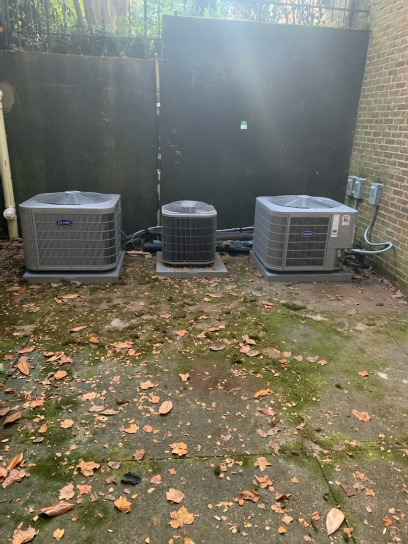 Atlanta, GA - Installed 2 Carrier seer condensers with 2 Carrier gas furnaces and Aprilaire media filters