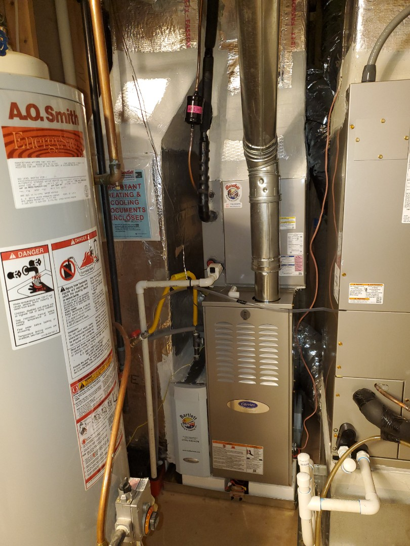 Acworth, GA - Installed new Carrier 5 stage condenser with Carrier Infinity 2 stage variable speed gas furnace and Infinity Mytouch WIFI Thermostat and Aprilaire media filter