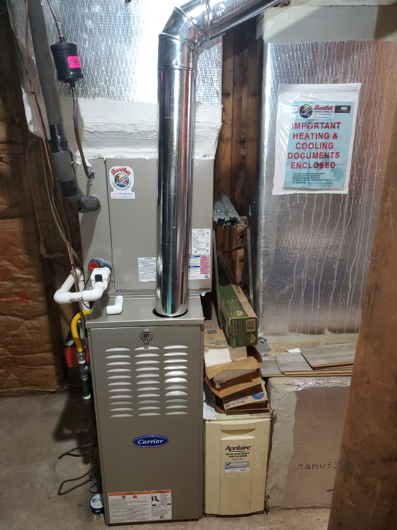 Smyrna, GA - Installed new Carrier gas furnaces system