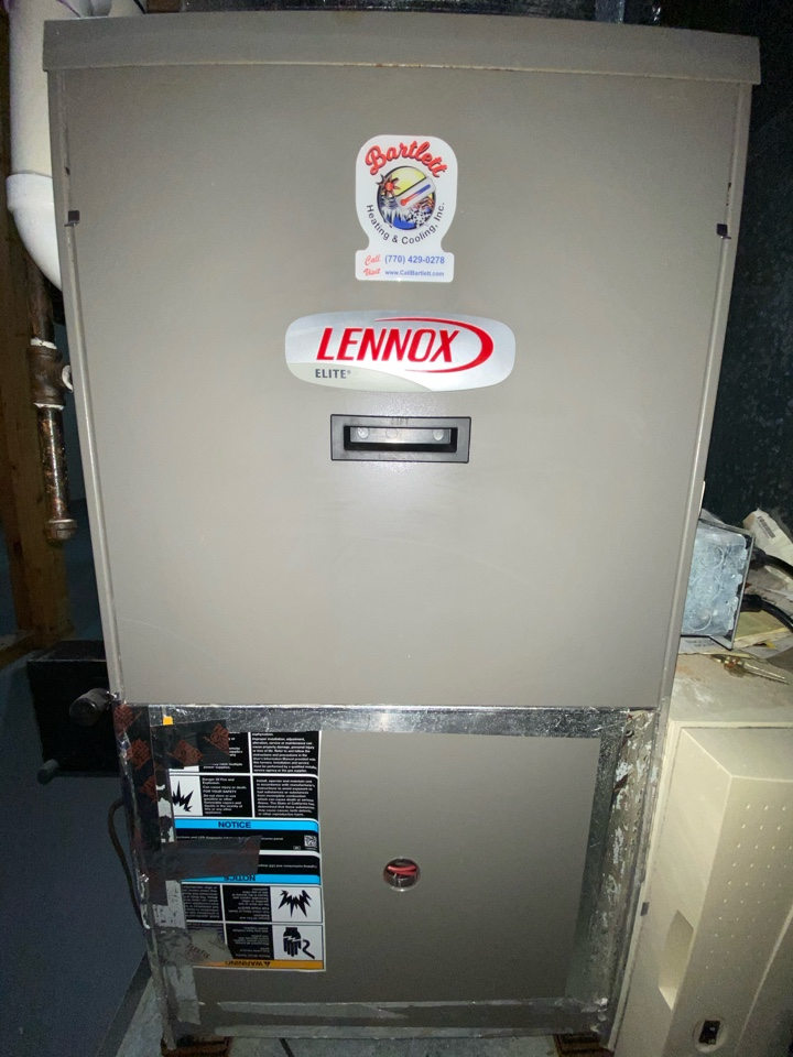 Smyrna, GA - Heat maintenance on Lennox furnace