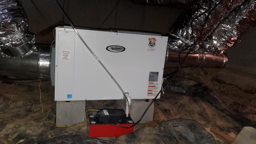 Sandy Springs, GA - Installed new Aprilaire Dehumidifier