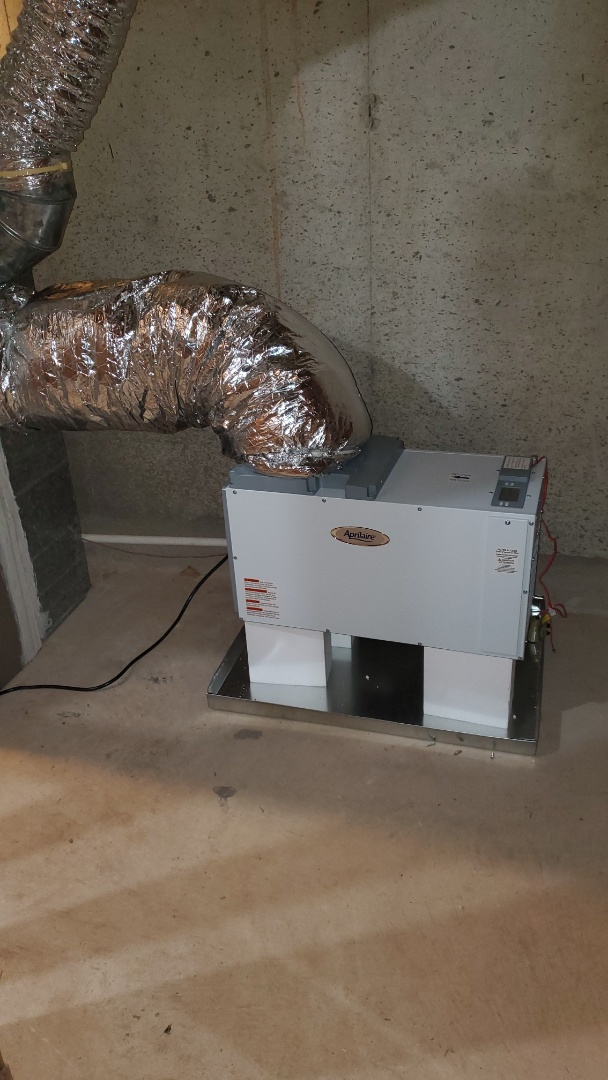 Marietta, GA - Installed new Carrier cooling system for basement installed I-Wave R on all 3 systems in home installed new Aprilaire Dehumidifier in basement