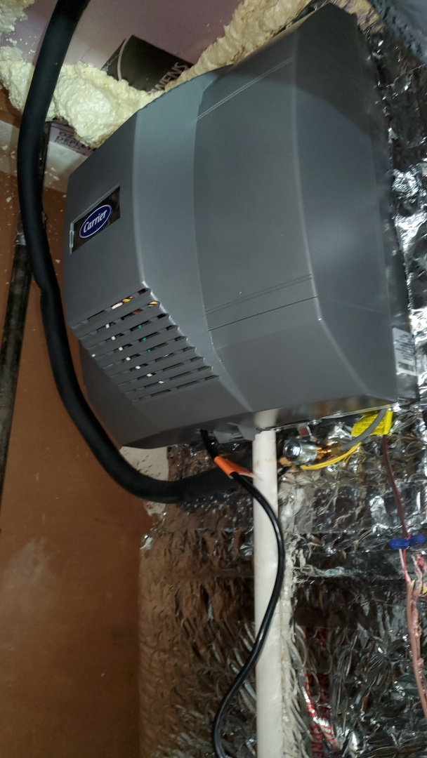 Sandy Springs, GA - Installed new Carrier Fan powered Humidifier
