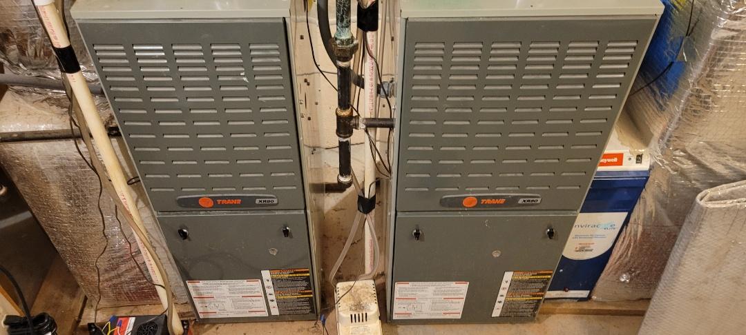 Kennesaw, GA - Performed Heat Maintenance on 4 Trane Furnaces. Marietta