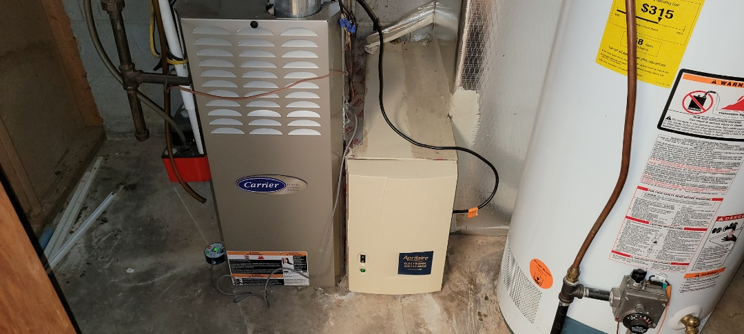 Powder Springs, GA - Performed Heat Maintenance on a High Efficiency Carrier Furnace with zoning. Powder Spring.