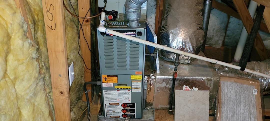 Acworth, GA - Performed Heat Maintenance on a Rheem  Furnace. Acworth