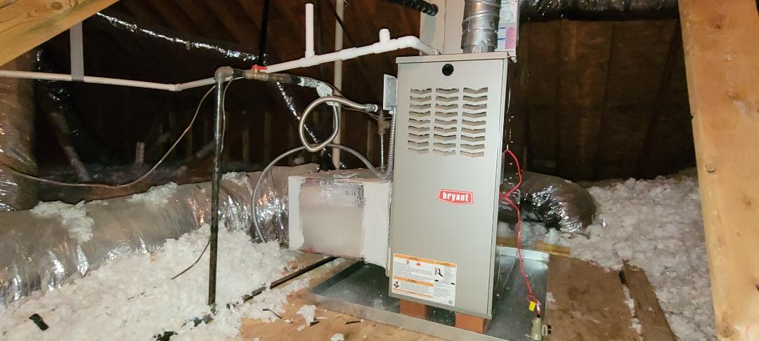 Acworth, GA - Performed Heat Maintenance on a Trane and Bryant Furnaces. Axworth
