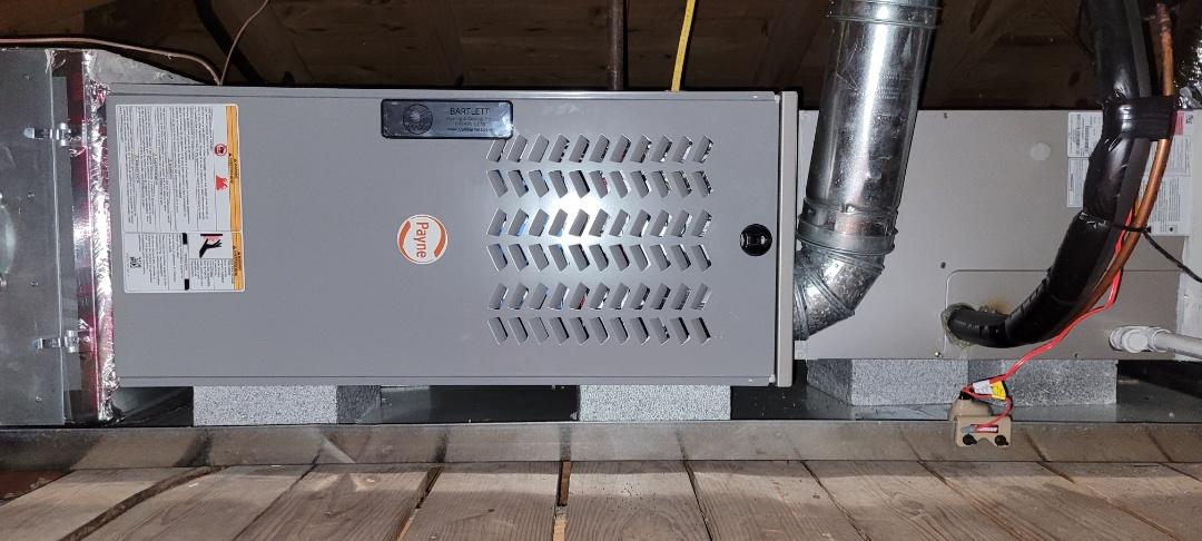 Kennesaw, GA - Performed Heat Maintenance on a Payne Furnace. Kennesaw.