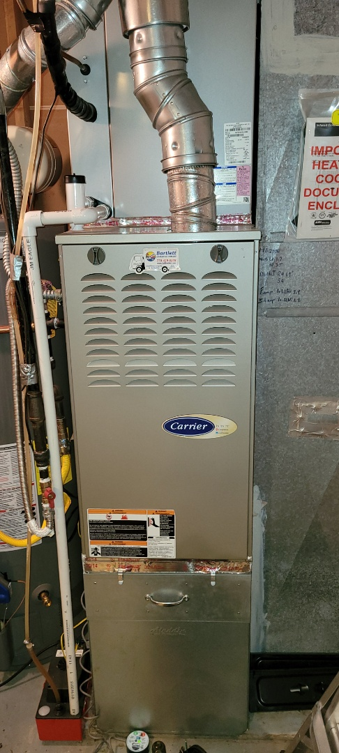 Powder Springs, GA - Performed Heat Maintenance on a Carrier Furnace. Powder Springs.