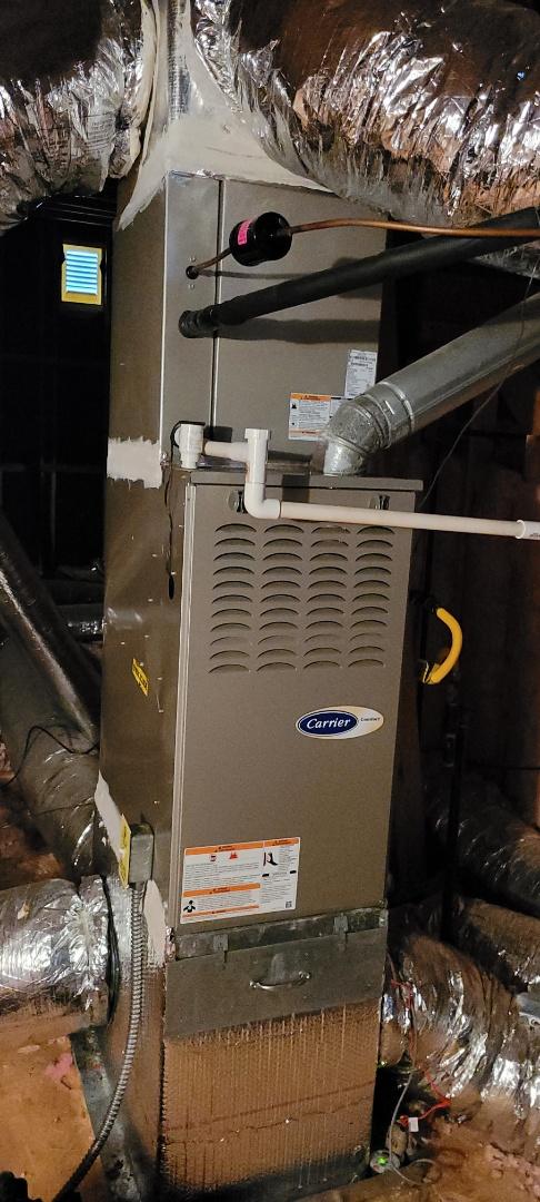 Powder Springs, GA - Performed Heat Maintenance on a Carrier Furnace. Powder Springs.
