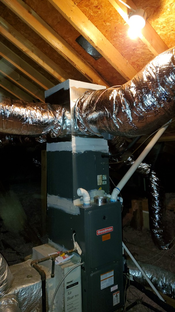 Smyrna, GA - Installed new ductwork in attic and added Honeywell zone system