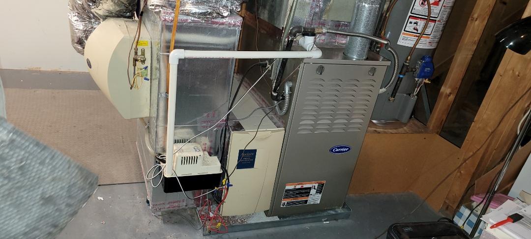 Marietta, GA - Performed Heat Maintenance on 2 Hugh Efficiency Carrier Furnaces.  Marietta