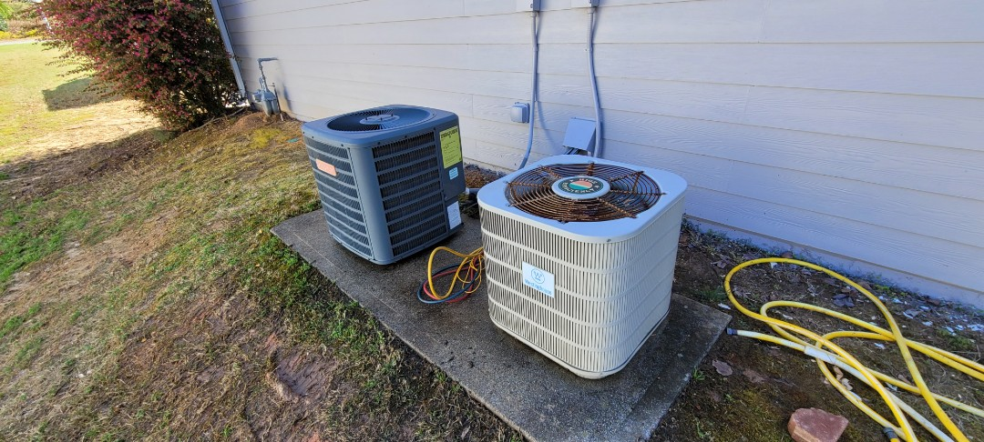 Acworth, GA - Performed AC Maintenance on a Goodman and Nordyne Condensing Units.  Acworth