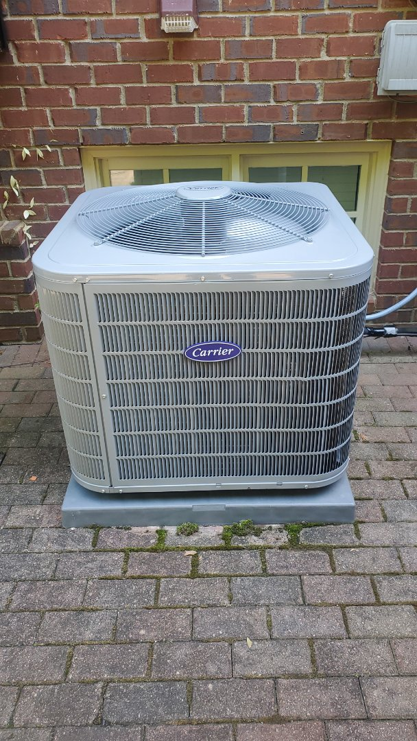 Smyrna, GA - Installed new Carrier 16 seer condenser with Carrier 2stage variable speed gas furnace