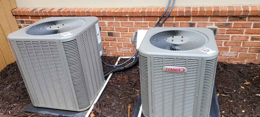 Powder Springs, GA - Performed AC Maintenance on 2 Lennox Condensing Units. Powder Springs.