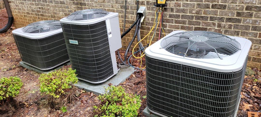 Powder Springs, GA - Performed AC Maintenance on 3 Comfortmaker CU. Powder Springs