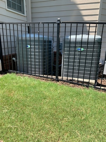 Mableton, GA - Installed 2 new Carrier Greenspeed Heatpump systems with Carrier Infinity 2stage variable speed gas furnaces and Infinity Mytouch WIFI Thermostat and Aprilaire media filter