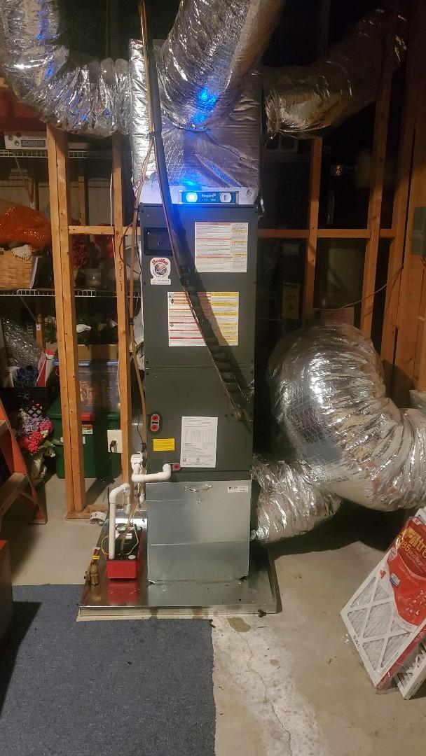 Powder Springs, GA - Installed new Amana Heatpump system