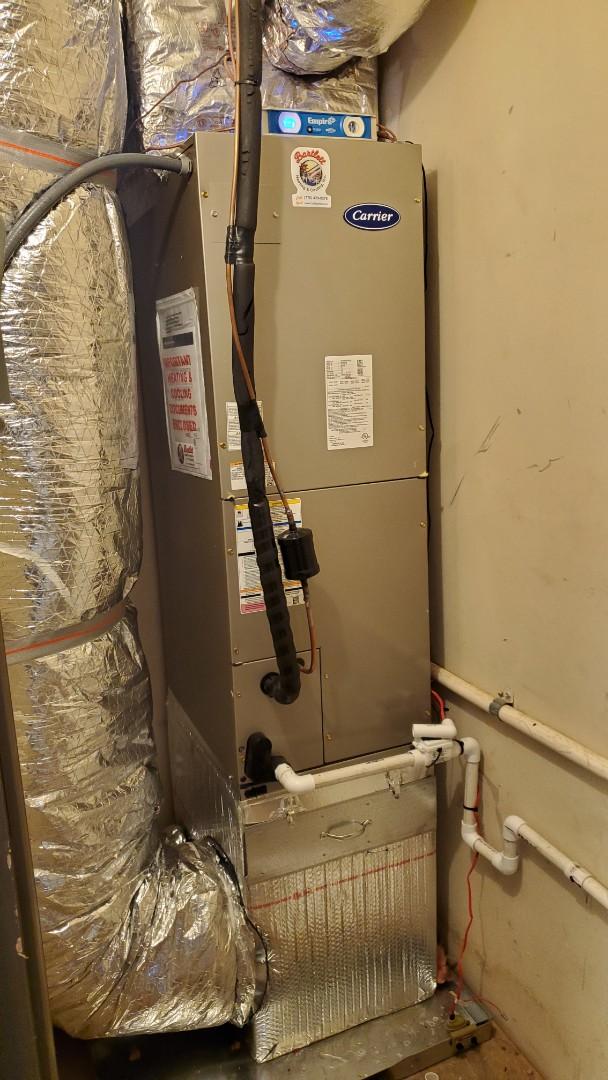 Marietta, GA - Installed new Carrier Heatpump system