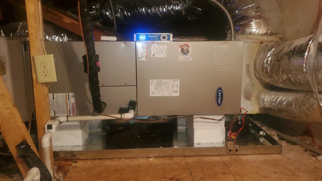 Smyrna, GA - Installed new Carrier Heatpump system