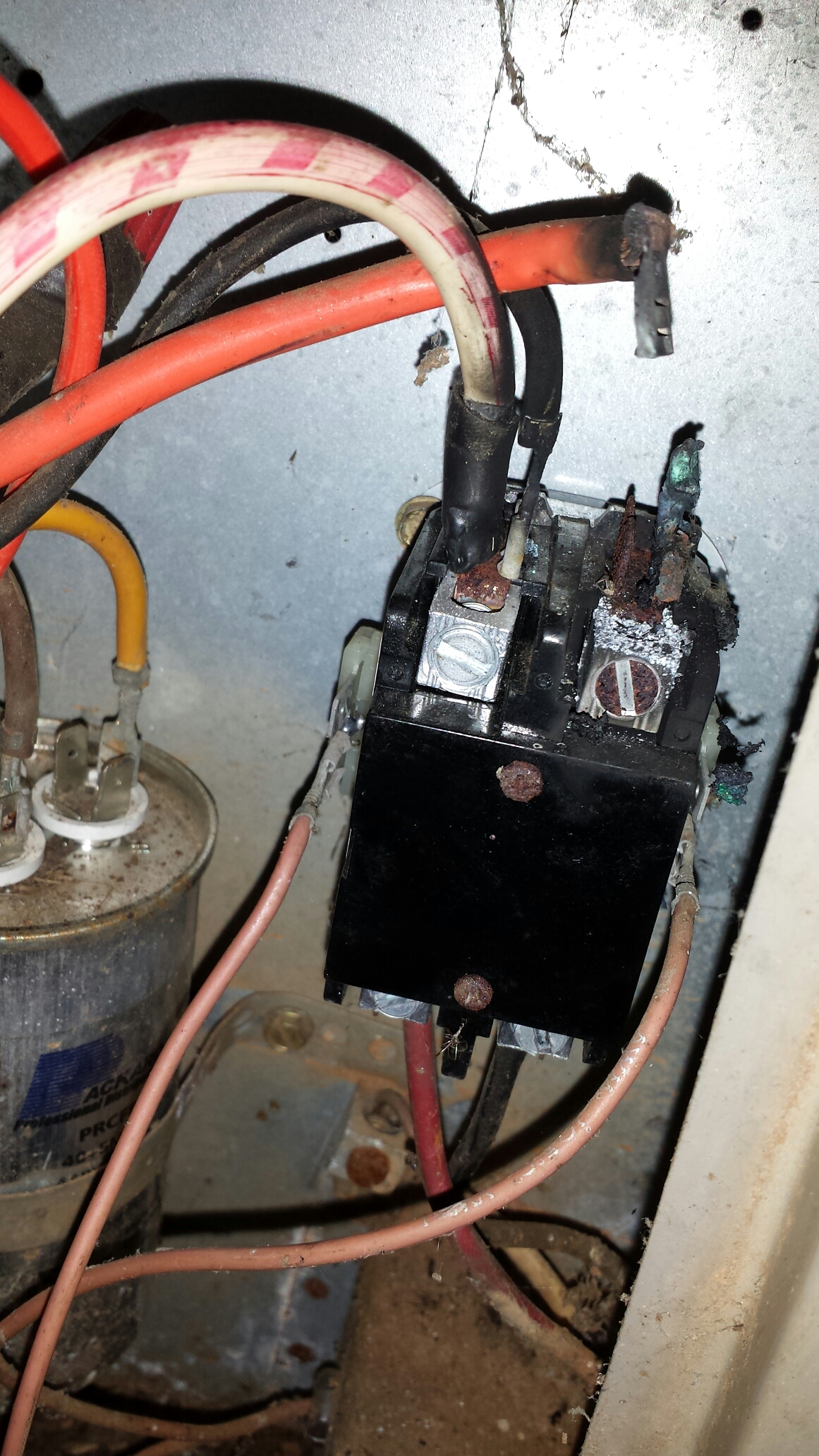 Heating Air Conditioning Repair In Smyrna Ga Ac Contactor Wiring No Cooling Due To Burnt Wires At Replaced