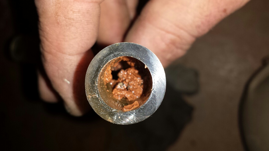Powder Springs, GA - No heating due to clogged 90% furnace drain line. Cleared drain line and restored heating.