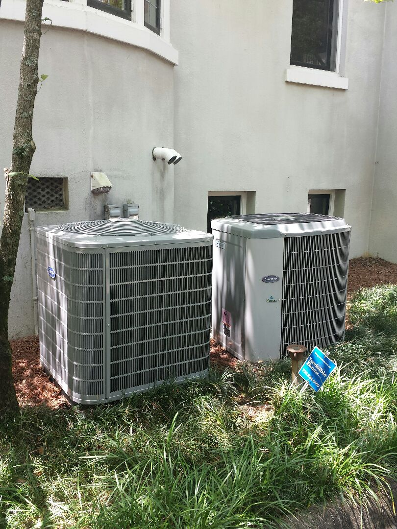 Atlanta, GA - Bi annual service agreement cooling maintenance on 2 Carrier air conditioners.