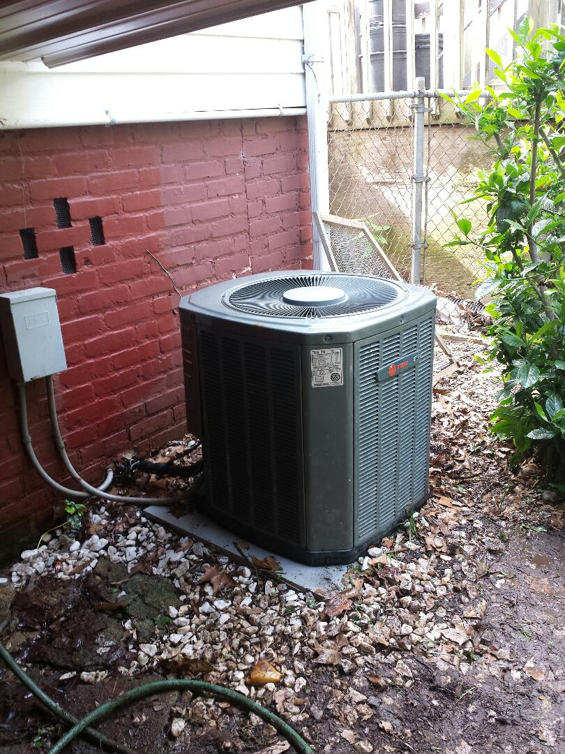 Atlanta, GA - Bi annual service agreement cooling maintenance on 1 Trane air conditioner.