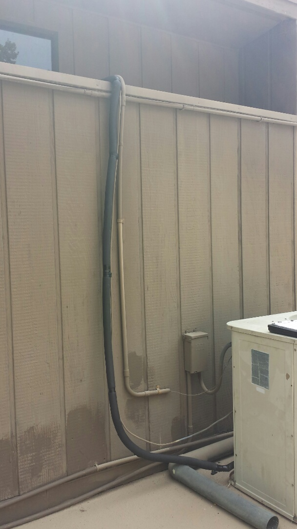 Atlanta, GA - Replaced 12' of insulation on outside AC refrigerant line.