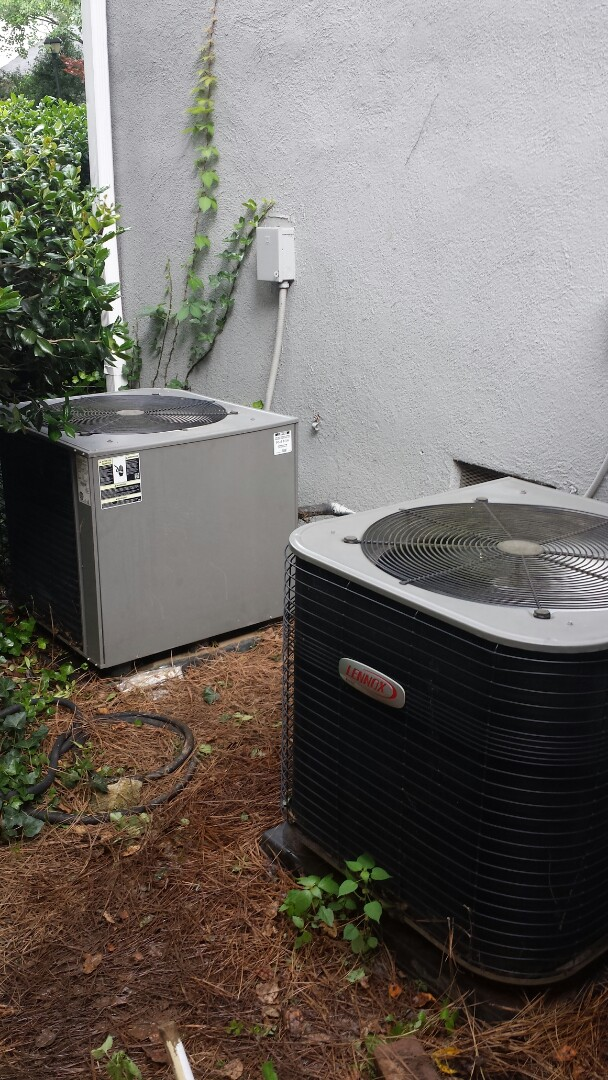 Atlanta, GA - Bi annual service agreement cooling maintenance on 2 Lennox air conditioners.